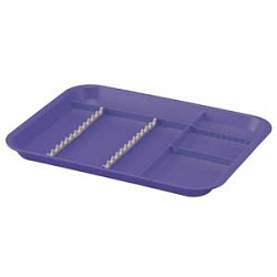 Zirc B-Lok Divided Tray  (M) Red